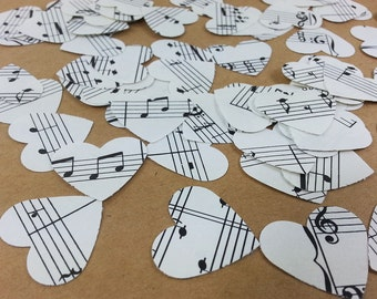 Musical Hearts Die Cut, Music Sheet Heart Confetti, Hearts Table Scatter, Sheet Music Hearts, Piano Music Hearts, Music Hearts Cut Outs