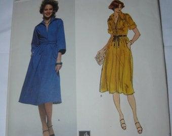Vogue American Designer Pattern 1657 Albert Nipon misses' Tucked Front Bodice Dress Size 12 Bust 34 UnCut