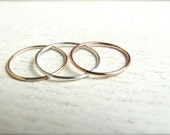 Thin Solid 14k Gold Knuckle Ring - 14k White Gold Rings For Women - 14k Yellow Gold Thumb Rings - Plain Gold Rings - Solid Rose Gold Band