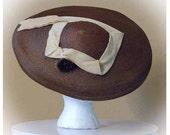Vintage New Look 1940s/1950s pinwheel hat, a Vincent de Koven Original