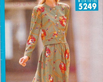 Butterick See and Sew Now 5249 Pattern, UNCUT, Top and Skirt, Size ALL 8-24 Very Easy
