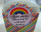 Rainbow Love Birthday Party Baby Shower Printable Favor Tags