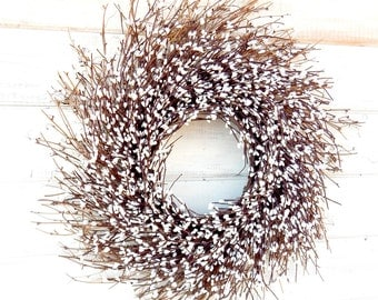 Spring Wreath-Summer Home Decor-Farmhouse Decor-Year Round Wreaths-Rustic Home Decor-Wedding Decor-WHITE TWIG Wreath-Rustic Twig Wreath