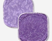 Quilted Chartres Finger Labyrinth, Purple Cotton Front, Lavender Flannel Back