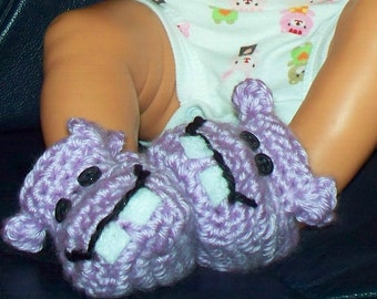 Smiling Hippo Booties