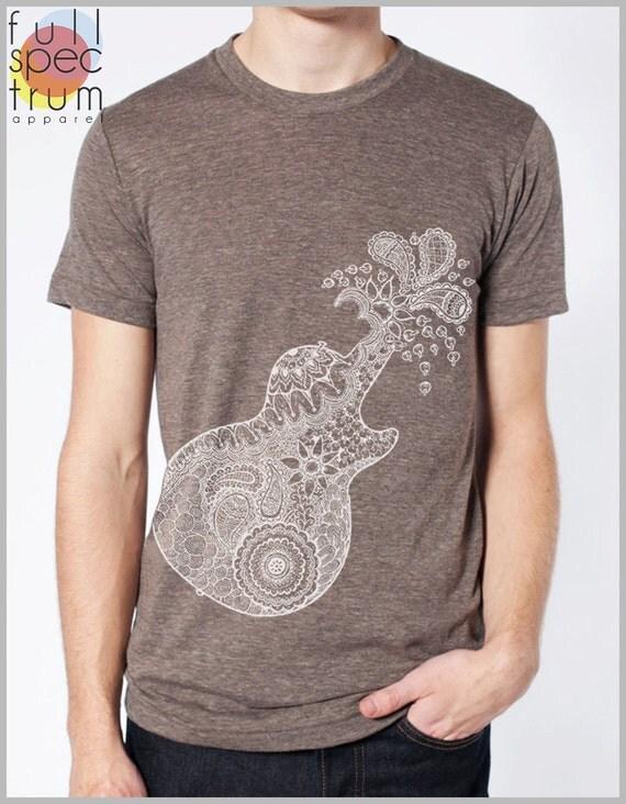 Guitar Explosion Graphic T shirt - Men's Women's Unisex - American Apparel Tee Sizes xs, s, m, l, xl
