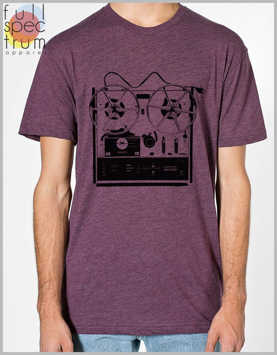 Reel to Reel Graphic Tee Men's T Shirt  American Apparel XS, S, M, L, XL 9 COLORS
