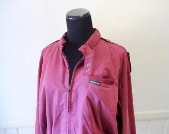 Vintage Burgundy Members Only Jacket Size Large 1980s