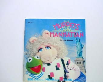 Vintage Muppets Take Manhattan Read Along Book and Record 1984