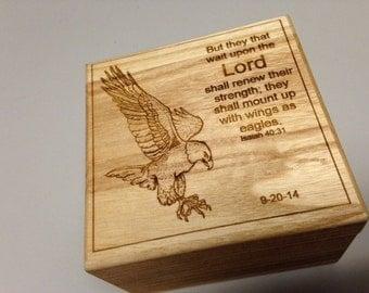 Isaiah 40:31 Small Memory Box