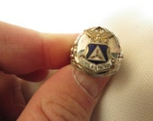 Civil Air Patrol Sterling Silver Ring SZ 5-1/2 Marked ESPC