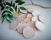 10 Natural White birch discs - Name tags - Gift wrap - Gift tags -  Holiday tags - Christmas ornaments - Tree ornaments