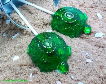 12 TURTLE LOLLIPOPS - Pick Any Color and Flavor