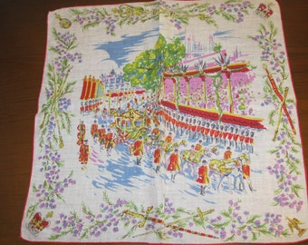 Coronation parade handkerchief