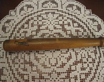 Wooden pencil box in the shape of a miniature  baseball bat