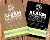 Firefighter Party Invitations