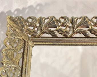 Vintage Mirror Dresser Vanity Tray MakeUp Mirror Antique Finish