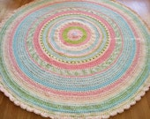 Lauries's Perfect Pastel Round Rug/Area Rugs/ Rugs/ Round Rug/Handmade Rug/Nusery Room Rug/Kids Decor Rug