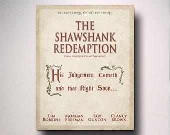 The Shawshank Redemption Inspired Minimalist Movie Poster / Wall Art / Print / Minimal / Movie Poster