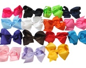 Hair Bows 15 pc 6in for Girl Hair Accessories Alligator Clip