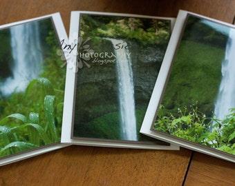 Waterfalls Handmade Greeting Cards - Set of 3
