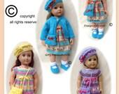 19 American Girl Doll  Random  Dress Set PDF Knitting Pattern