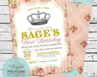 Vintage Royal Princess Invitation