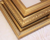 One 5x7 Gold Distressed Vintage Hand Painted Distressed Frame
