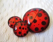 Ladybug cabochons for jewelry making and crafts
