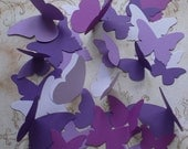 Stampin Up Butterfly Die Cut pieces Purple Purples Cardstock for Crafts Mobiles Photo Shoot Props Mural Wall Hanging
