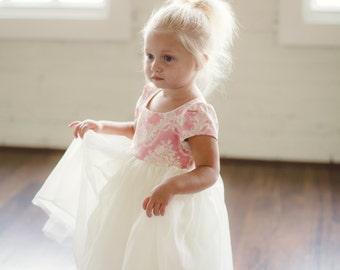 Pink Damask Tutu Dress