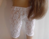 Doll Clothes Trendy White Lace Capri Pants For Mini Dresses or Capri Tops Fits Most 18 Inch Dolls