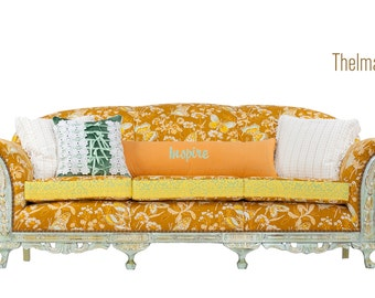 Grand 1930's Bohemian Glam Vintage Sofa