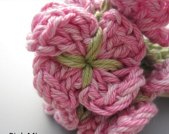Crocheted Flower Posy - Pink Mix
