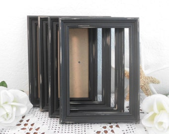 Rustic Black Wedding Frame Shabby Chic Distressed 4 x 6 or 5 x 7 Picture Photo Table Number Decoration Country Home Decor Gift For Her Him