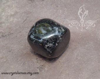 Black Tourmaline Tumbled Gemstone Crystal - 1 piece Large Size (BTO0007) Protection, Courage, Fears, Base Chakra