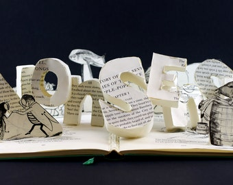 Book of Nonsense 3D Book Sculpture, One of a Kind