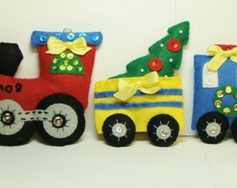 Christmas-PDF Instant Download- Pattern-Hand Sewing Ornaments in Felt