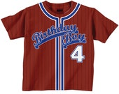 Birthday Boy Shirt - Personalized Baseball Jersey T-Shirt - Any Color - Any Name - Any Number