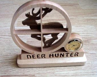 Deer Hunter Clock, Duck Hunter Clock, Turkey Hunter Clock, Father's Day Gift, Hunter's Gift