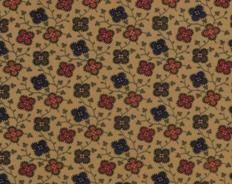 Sweet Pea Fabric Collection by Kansas Troubles - Multi Colors Floral Vine 9403-11 - 1 Yard