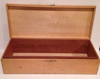 Memory Box Wooden Cigar Box 14 x 6 x 3.75 Penna Class C