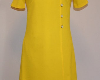 Vintage Dress Yellow 1960s