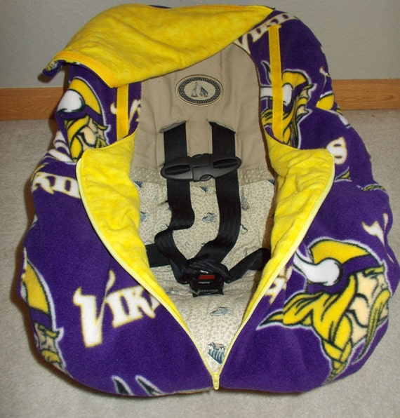 minnesota football vikings infant baby car seat cover purple. Black Bedroom Furniture Sets. Home Design Ideas