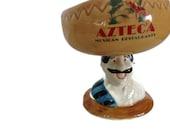 Salsa Bowl - Azteca Man with Sombrero - Vintage Restaurant Ware