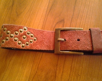 SALE!!!!! Red suede studded Diesel brand belt