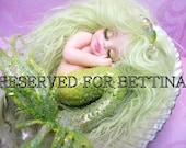 ooak art doll fantasy mermaid baby polymer clay sculpture fairy   IADR  RESERVED FRee shipping