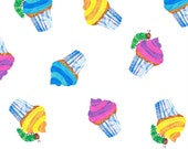 The Very Hungry Caterpillar Cupcakes from Andover Fabrics