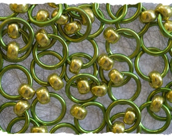 "Ringlets ""Lime Rickey"" stitch markers, ring markers, knitting markers, snag free, dangle free"