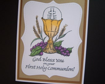 First Communion Card for Boys or Girls